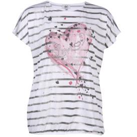 Große Größen Shirt mit Print und Glitzersteinchen
