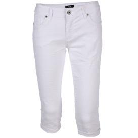 Damen Capri Hose mit Crash-Effekt