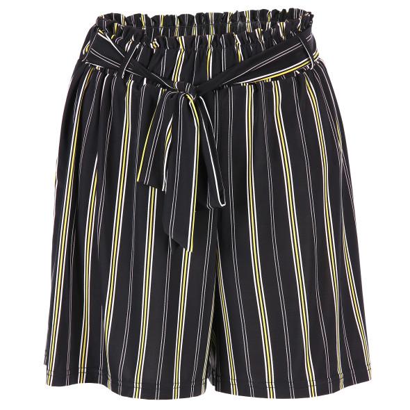 Damen Jersey Shorts mit Streifenprint