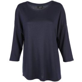 Damen Struktur Shirt mit 3/4 langem Arm