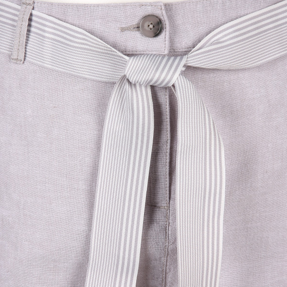 Damen Leinenrock mit Gürtel