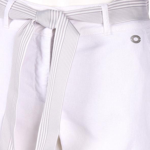 Damen Leinenhose mit Gürtel