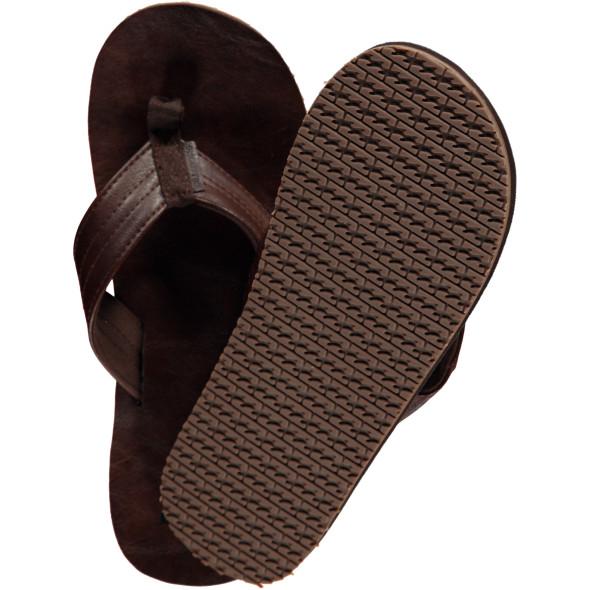 Herren Flip Flops im Lederimitat