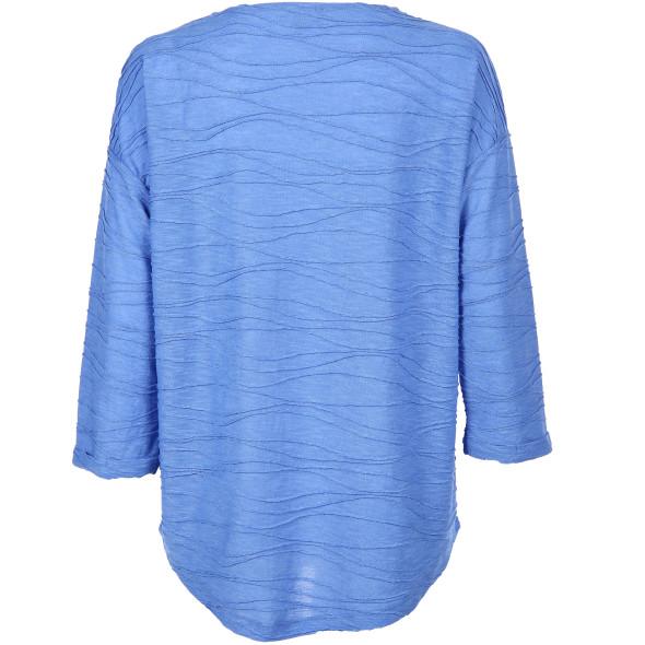 Damen Shirt mit Struktur und 3/4 langem Arm