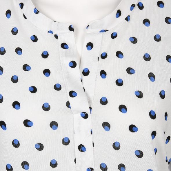 Damen Shirt mit Allover Print und 3/4 langem Arm