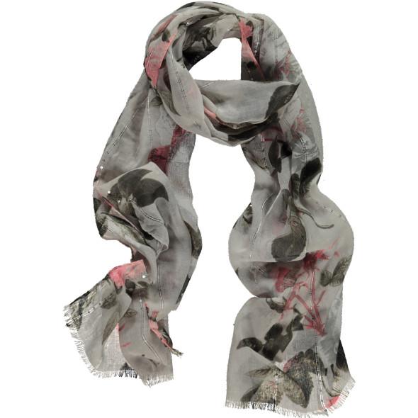 Damen Schal mit Rosen und Pailletten