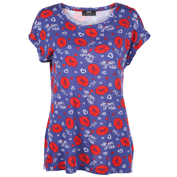 Damen Shirt mit auffälligem Print