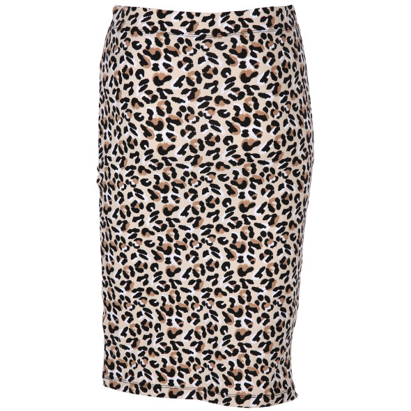 Damen Rock mit Animal Print