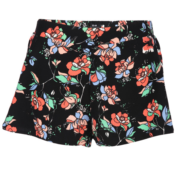 Damen Hot Pants mit Blumendruck