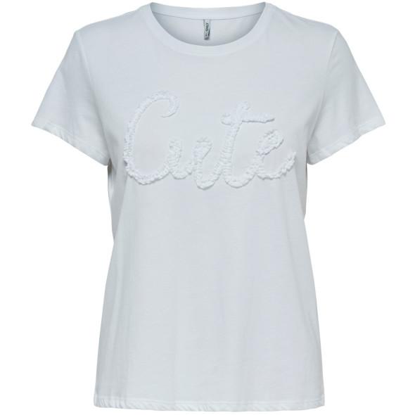 Damen Only Shirt mit Rüschen