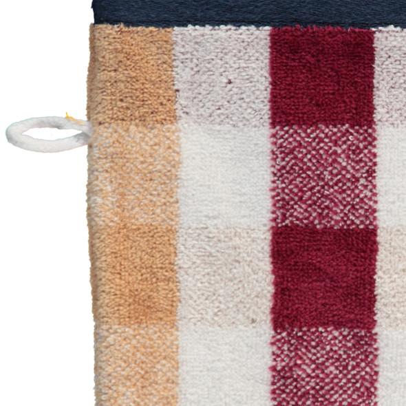 Waschhandschuh mit Karomuster, 18x24cm