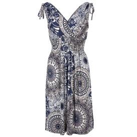 Damen Kleid mit effektvollem Muster