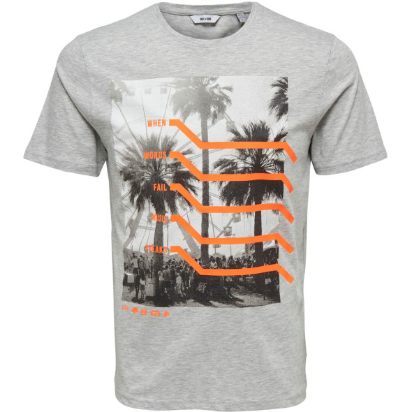 Only&Sons ONSPETAL SS FITTED TE T-Shirt mit Neon- Effekten