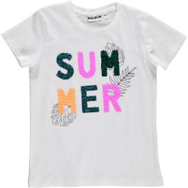 Mädchen Shirt mit Wende-Pailetten