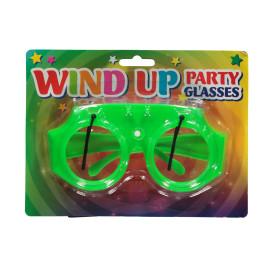 Party Brille mit aufziehbaren Scheibenwischern