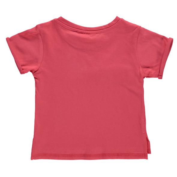 Mädchen Shirt mit Frontprint und Quasten