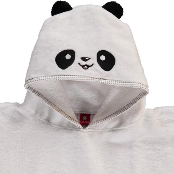 Kinder Poncho mit kleiner Panda Mütze