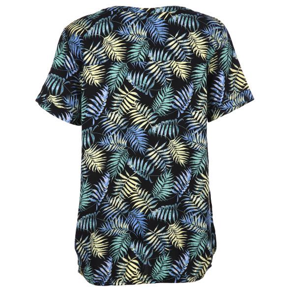 Damen Tom Tailor Bluse mit Palmblatt Print