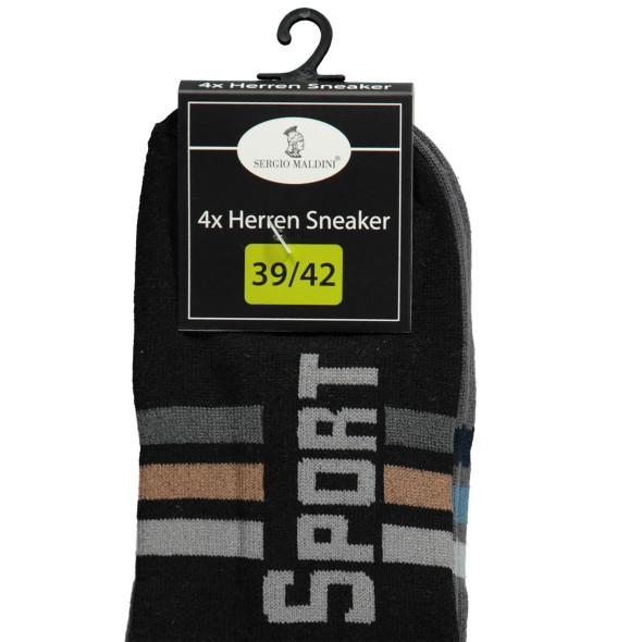 Herren Sport Sneaker Socken im 4er Pack