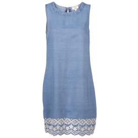 Damen Denim Kleid mit Lochstickerei