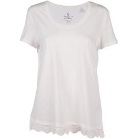 Damen Shirt mit angesetzter Spitze