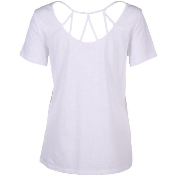 Damen Shirt mit effektvollem Rückenausschnitt