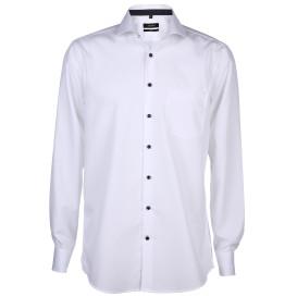 Herren Hemd mit Kontrastknöpfen in Comfort Fit