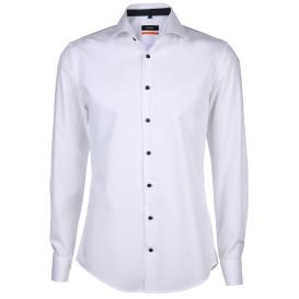 Herren Hemd mit Kontrastknöpfen in Slim Fit