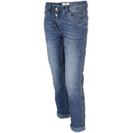 Damen Capri Jeans mit Galonstreifen