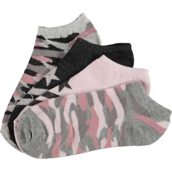 Mädchen Sneaker Socken im 4er Pack