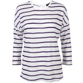 Damen Shirt in Streifenoptik mit 3/4 langem Arm