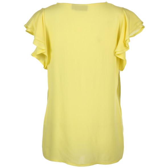 Damen Volant-Bluse mit Schmetterlings-Ärmel