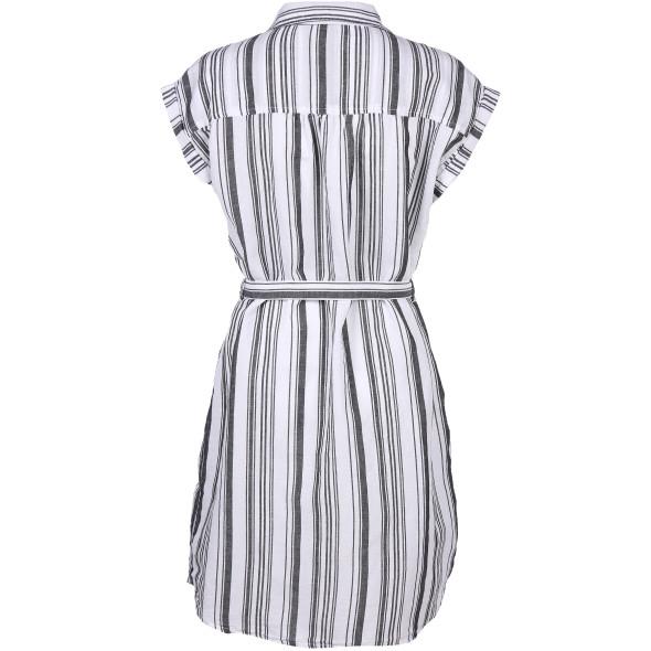 Damen Kleid mit Streifen in Blusenform