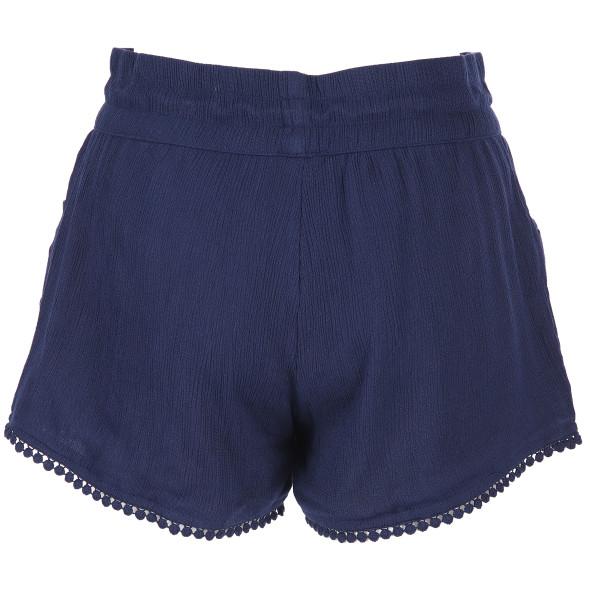 Damen Shorts mit kleiner Pompombordüre