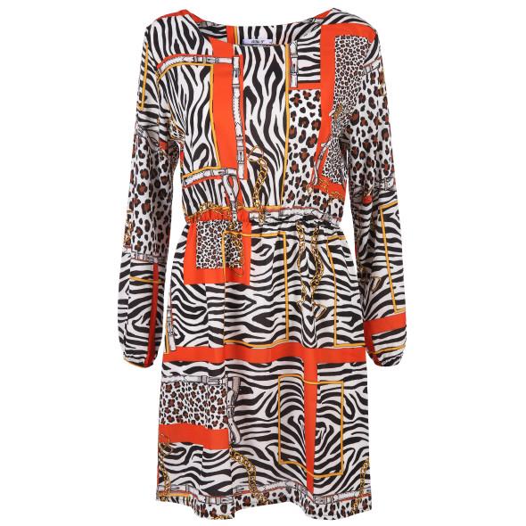 Damen Kleid mit starkem Muster