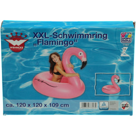 Schwimmring in Flamingoform