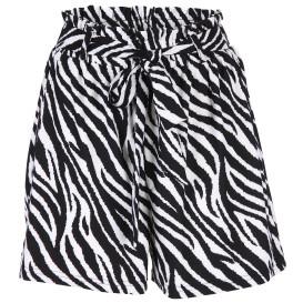 Damen High Waist Shorts im Zebralook