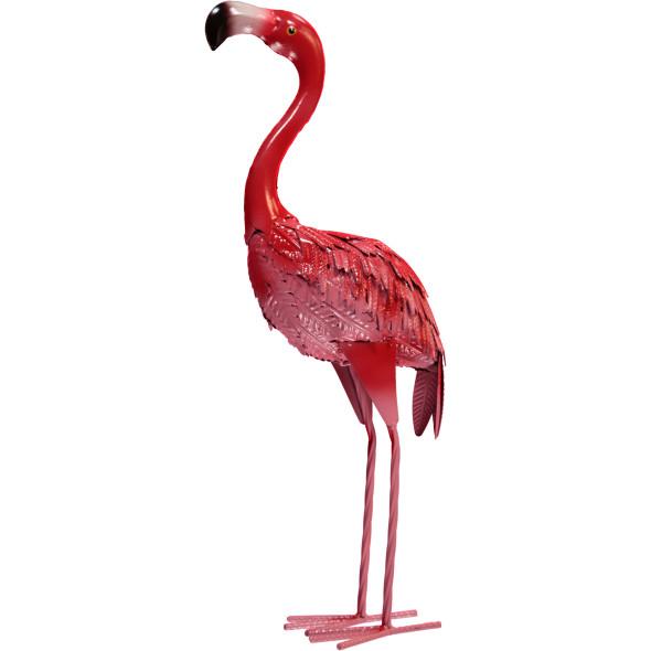 Flamingo Figur aus Metall 53cm hoch