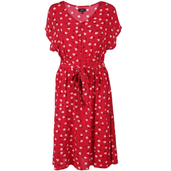 Damen Kleid mit Blumenprint
