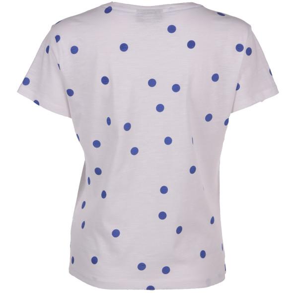 Damen Shirt mit Punkten und Bindeband