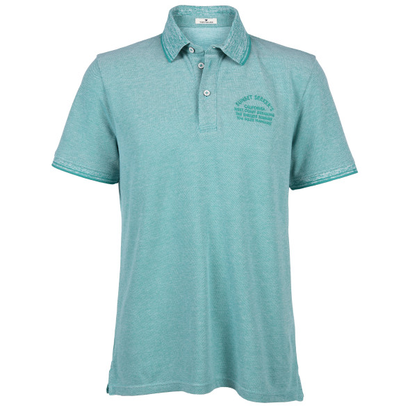 Herren Poloshirt in Melange Optik