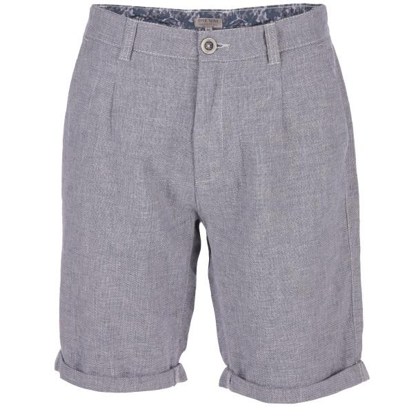 Herren Shorts aus grob gewobenem Leinenmix