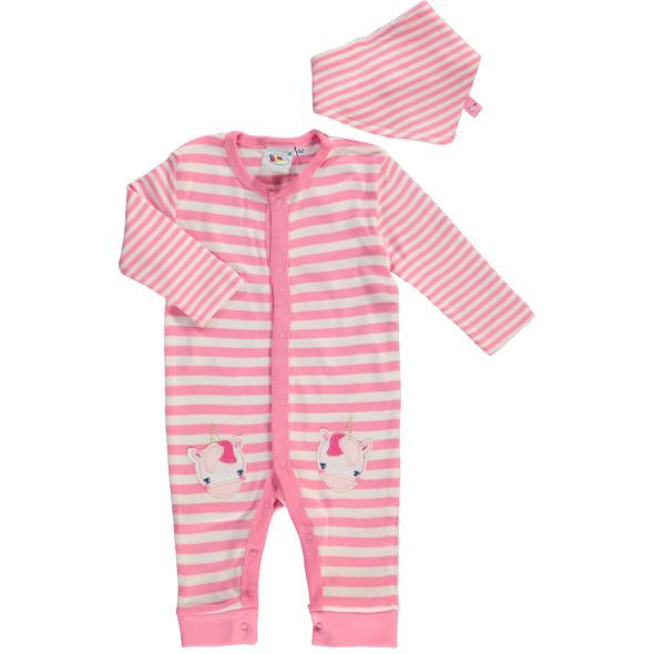 Baby Mädchen Pyjama mit passendem Halstuch