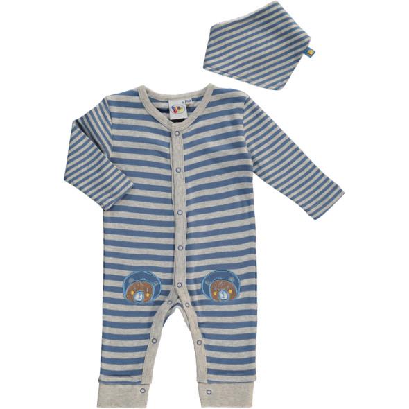 Baby Jungen Pyjama mit kleinem Halstuch