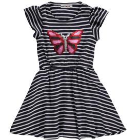 Mädchen Kleidchen mit Wendepailletten