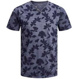 Herren Jack&Jones Premium T-Shirt mit Serafinoausschnitt