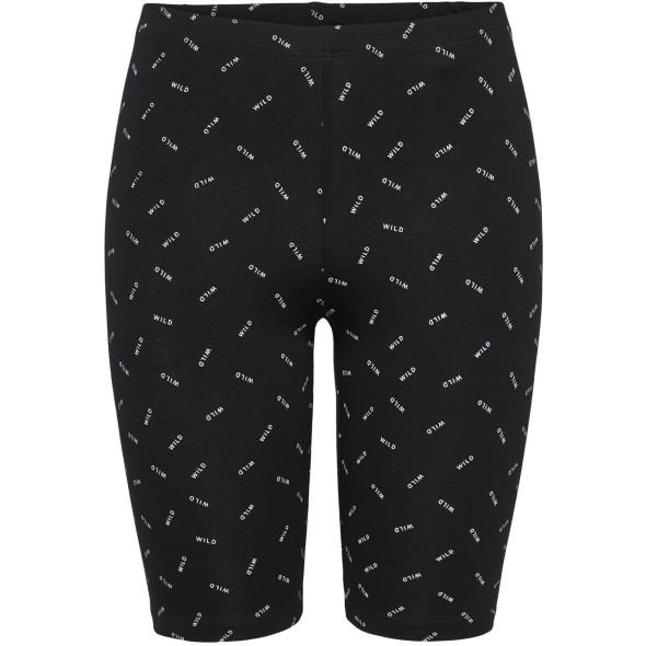 Damen Only Radler Shorts mit Minimalprint