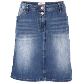 Damen Jeans Rock mit Galonstreifen