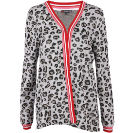 Damen Cardigan im Animal Print