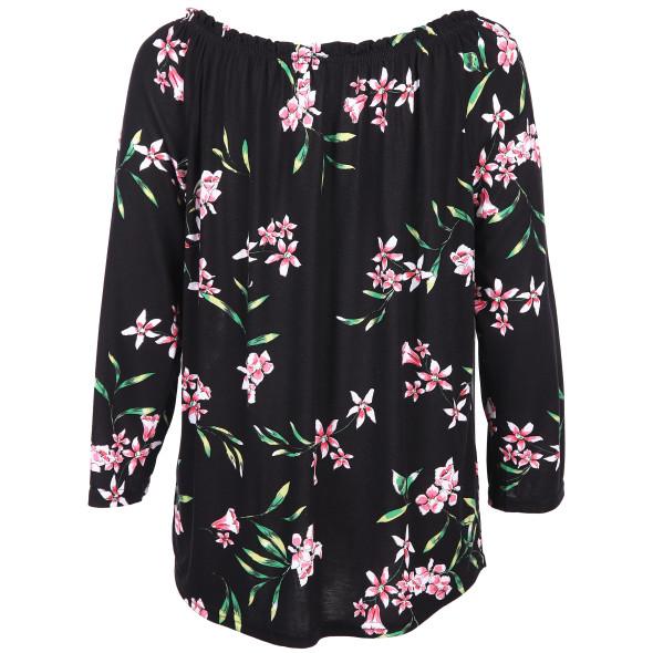 Damen Shirt im floralen Look mit 3/4 Arm